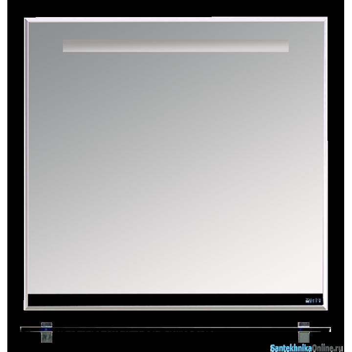 Зеркала Misty Джулия - 85 Зеркало с полочкой 12 мм черное Л-Джу03085-0210