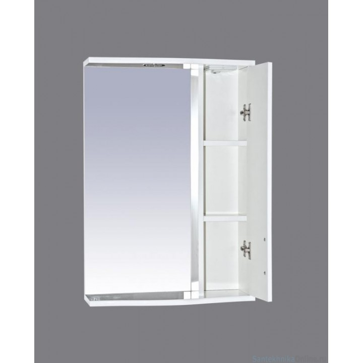 Зеркало-шкаф Misty АСТРА-50 зеркало-шкаф лев.(свет) салатовая Э-Аст04050-07СвП