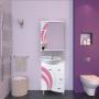 Зеркало-шкаф Misty Каролина 60 R розовый П-Крл02060-295СвП