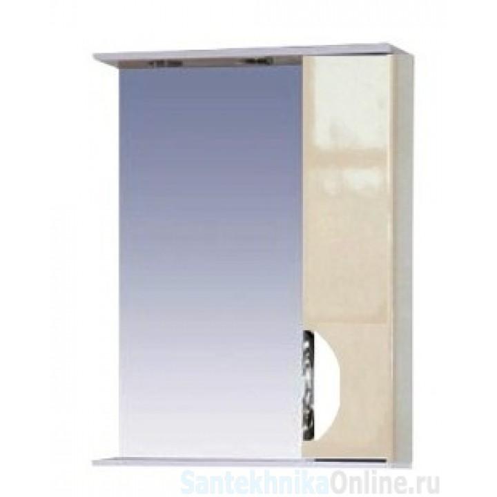 Зеркало-шкаф Misty Жасмин 55 R бежевый П-Жас02055-031СвП
