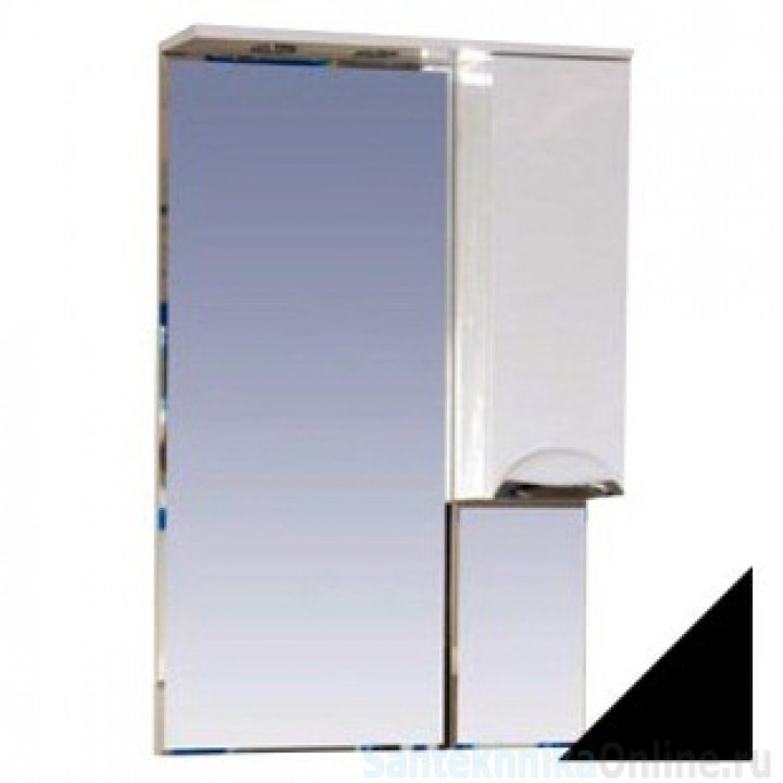 Зеркало-шкаф Misty Жасмин 65 R черный П-Жас02065-021СвП