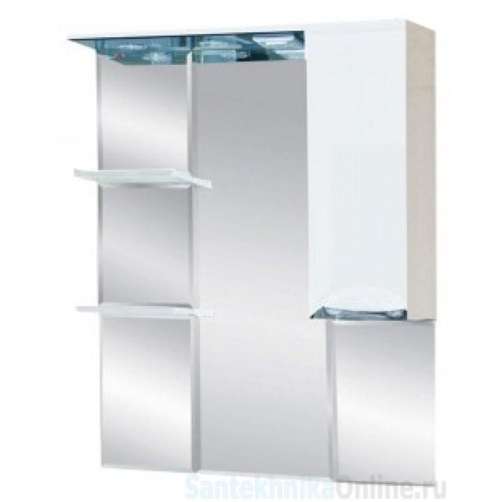 Зеркало-шкаф Misty Жасмин 80 R белый П-Жас02080-011СвП