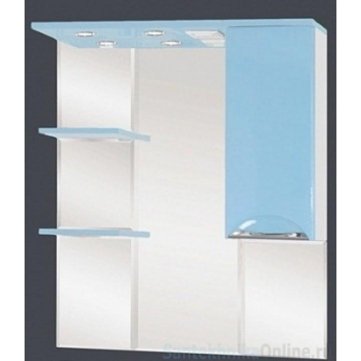 Зеркало-шкаф Misty Жасмин 85 R голубой П-Жас02085-061СвП