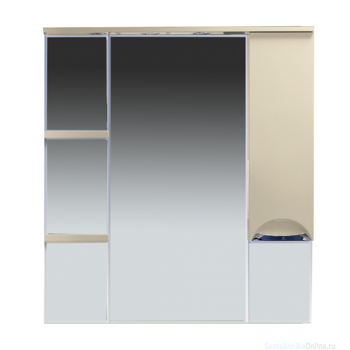 Зеркало-шкаф Misty Кристи 90 R бежевый П-Кри02090-031СвП