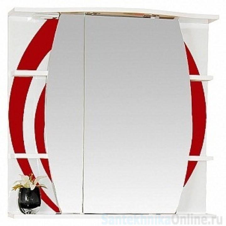 Зеркало-шкаф Misty Каролина 80 L красный П-Крл02080-265СвЛ