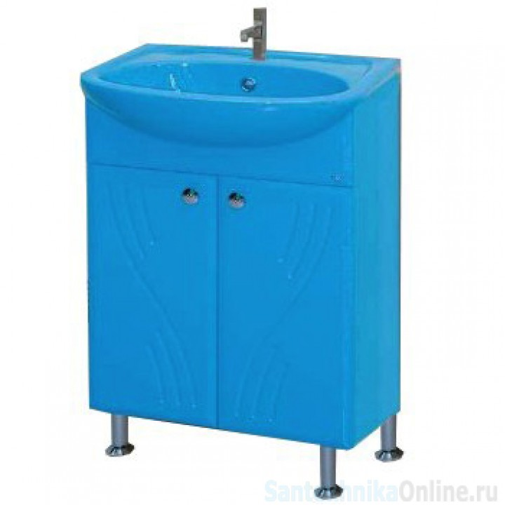 Тумба под раковину Misty Мисти-50 Тумба (голубая) Э-Мис01050-06