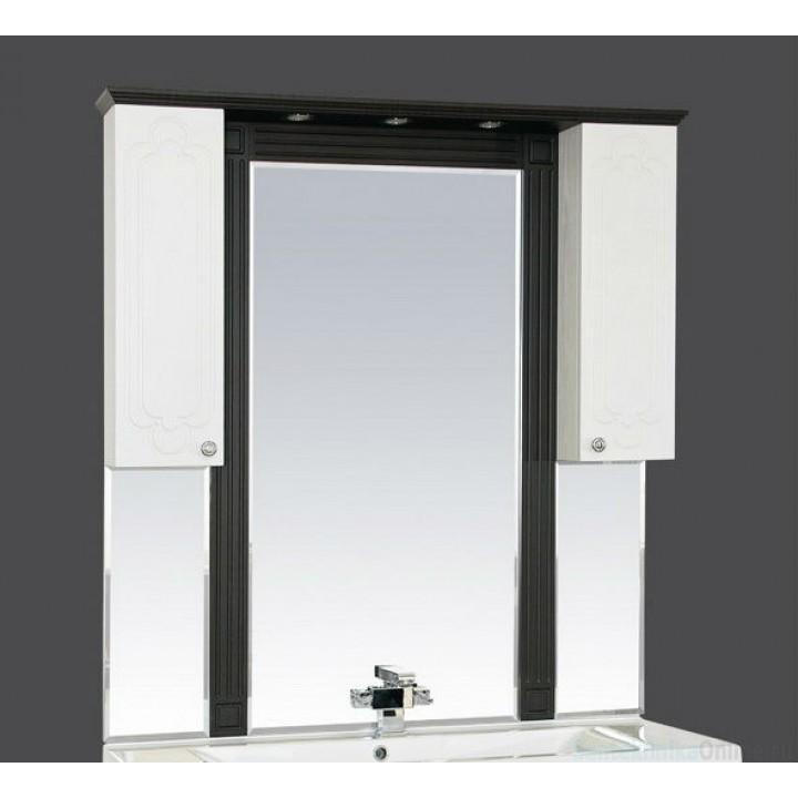 Зеркало-шкаф Misty Марсель 120 венге/белый П-Мрс02120-252