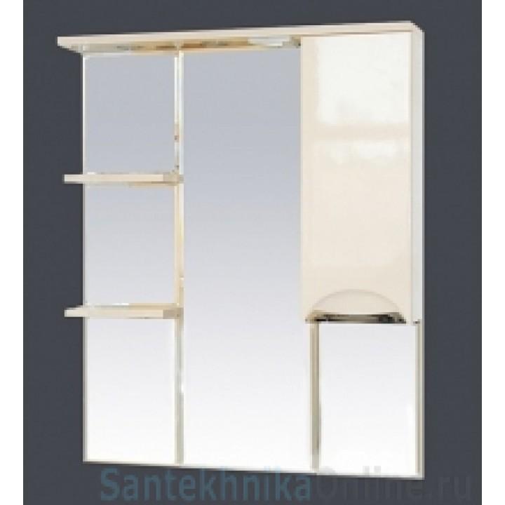 Зеркало-шкаф Misty Петра 90 R белый П-Пет04090-011СвП