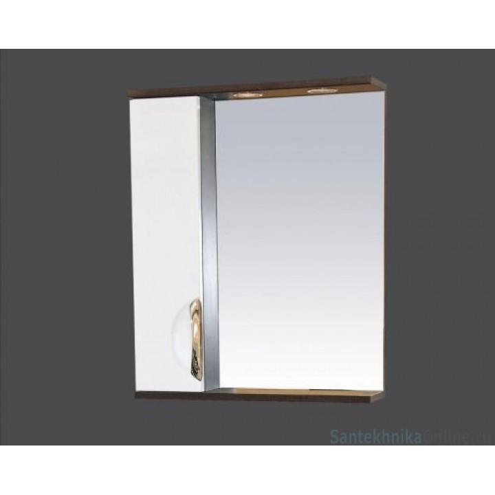 Зеркало-шкаф Misty Франко - 55 зеркало-шкаф Венге/белый (свет) лев. П-Фра04055-252СвЛ