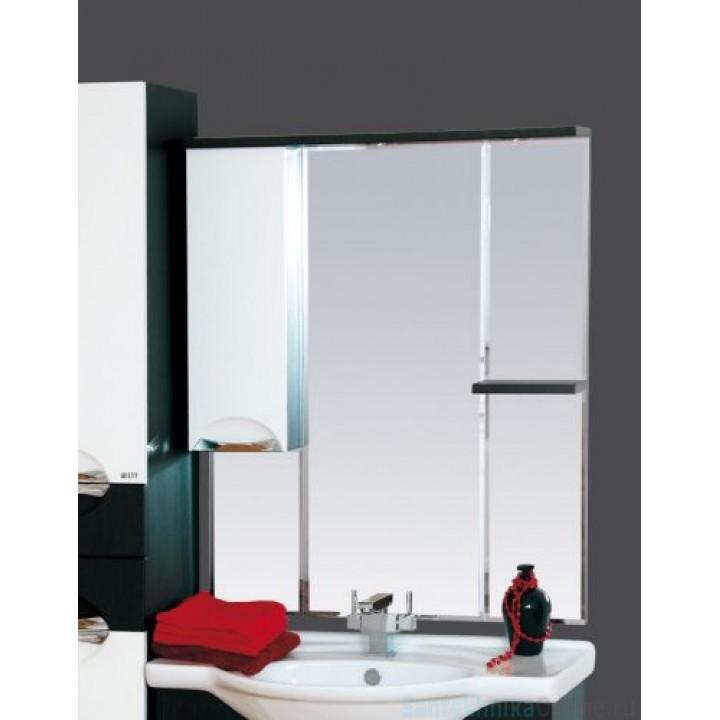 Зеркало-шкаф Misty Франко - 85 зеркало-шкаф Венге/белый (свет) лев. П-Фра04085-252СвЛ