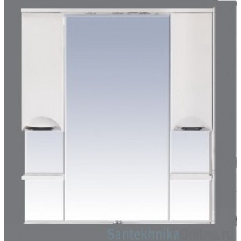 Зеркало-шкаф Misty София -120 Зеркало - шкаф (свет) белая эмаль П-Соф02120-011Св