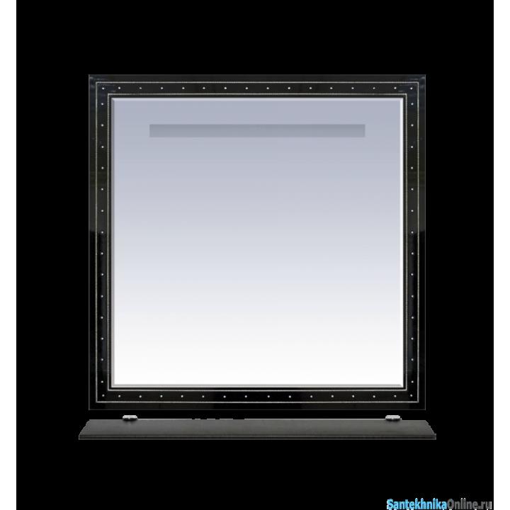 Зеркала Misty Bella -105 Зеркало черное с кристаллами Л-Бел02105-0216