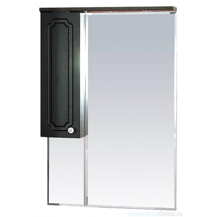 Зеркало-шкаф Misty Александра - 65 зеркало-шкаф лев. (свет) ВЕНГЕ П-Але04065-052СвЛ