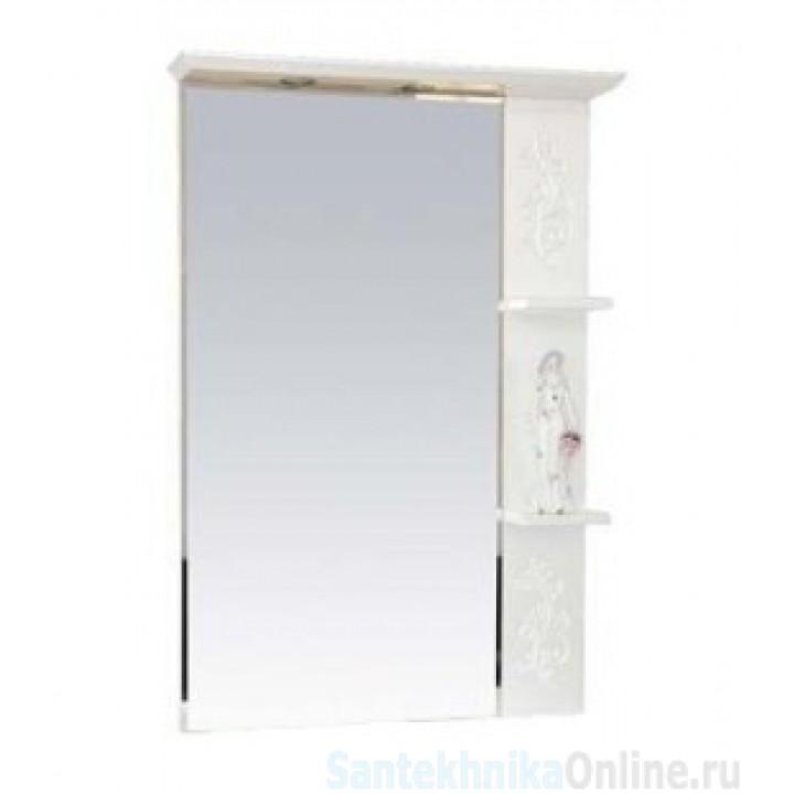 Зеркало-шкаф Misty Вирджиния (Бабочка) - 75 зеркало прав. бел.фактур. П-Вир02075-012П