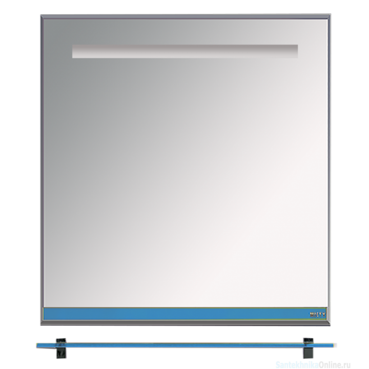 Зеркала Misty Джулия - 75 Зеркало с полочкой 12 мм синее Л-Джу03075-1110