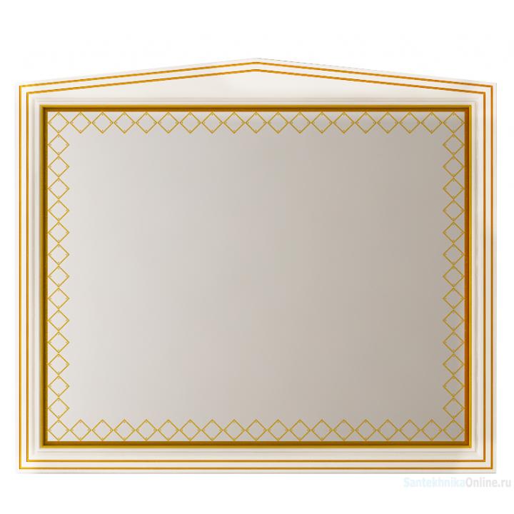 Зеркала Misty Ницца 100 белое патина Л-Ниц02100-013