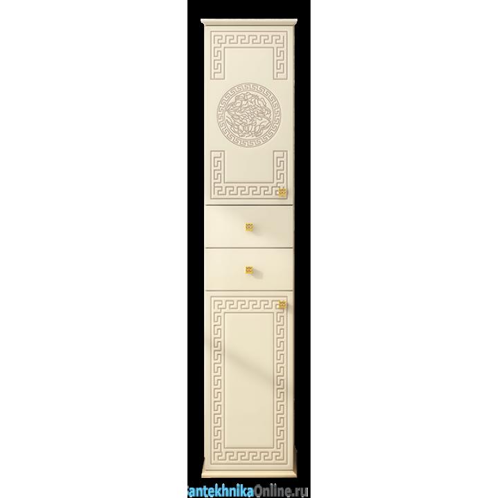 Шкаф-пенал Misty Olimpia LUX 40 L с 2-мя ящиками бежевый патина Л-Олл05040-0332ЯЛ