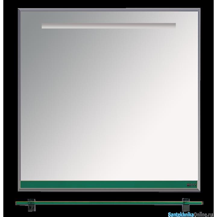 Зеркала Misty Джулия - 75 Зеркало с полочкой 12 мм зеленое Л-Джу03075-0810