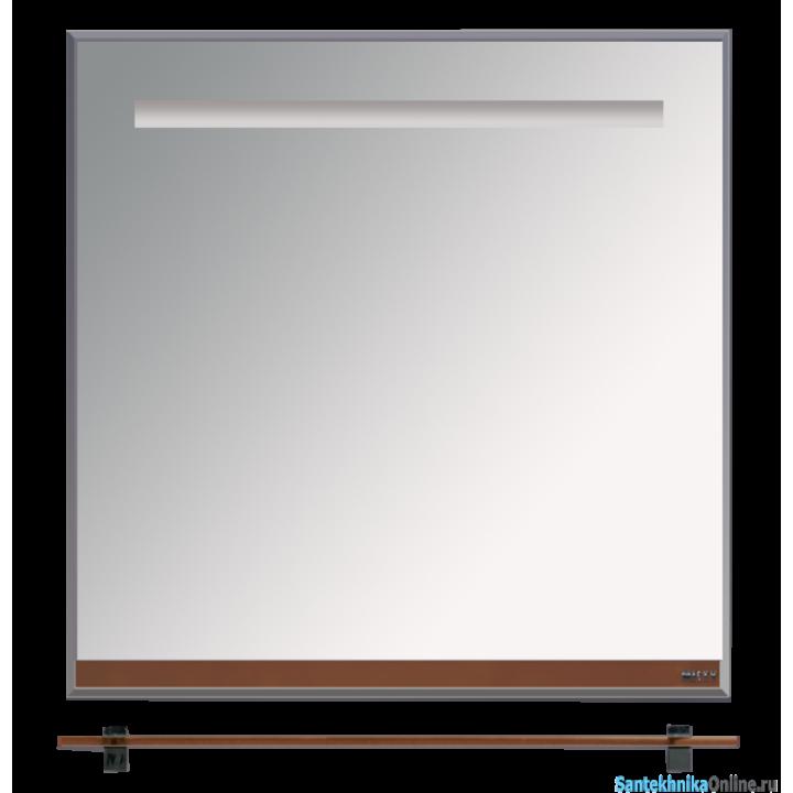 Зеркала Misty Джулия - 75 Зеркало с полочкой 12 мм коричневое Л-Джу03075-1410