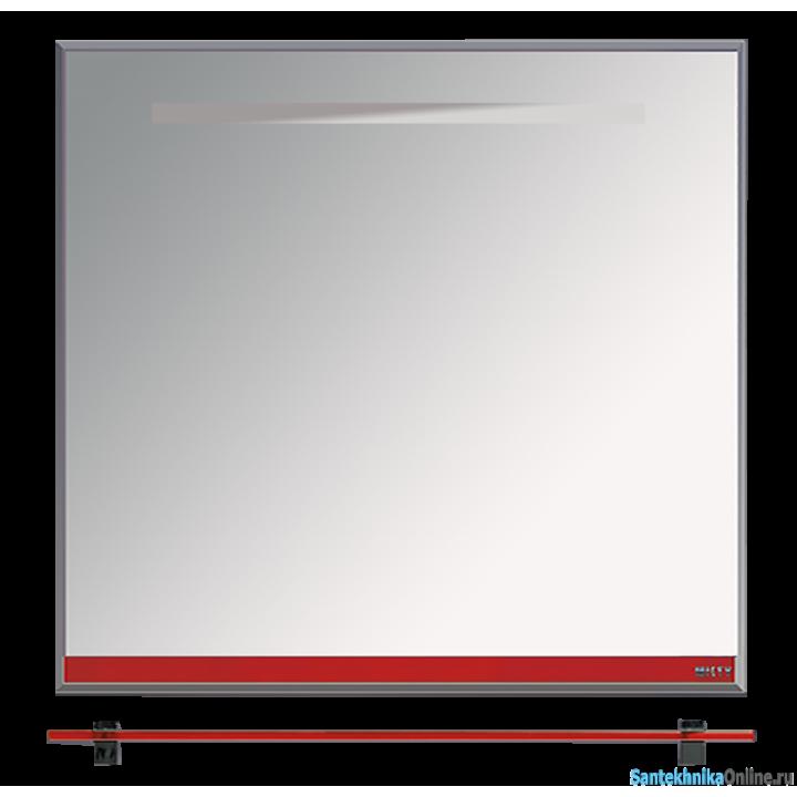 Зеркала Misty Джулия - 85 Зеркало с полочкой 12 мм красное Л-Джу03085-0410