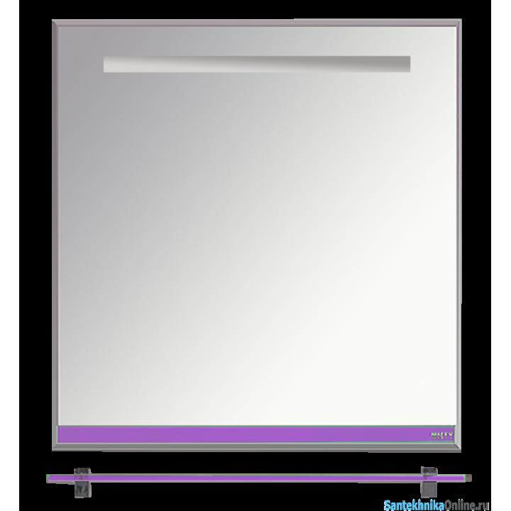 Зеркала Misty Джулия - 75 Зеркало с полочкой 12 мм сиреневое Л-Джу03075-1510