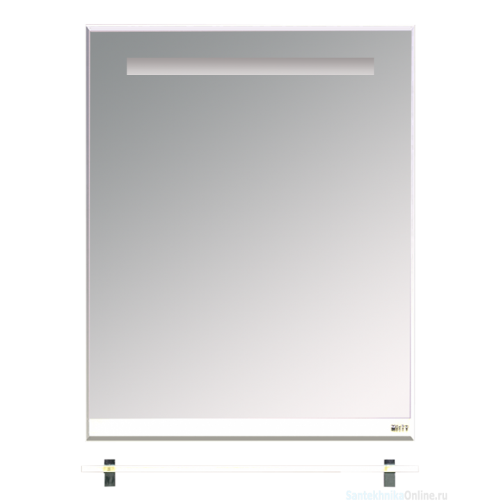 Зеркала Misty Джулия - 65 Зеркало с полочкой 8 мм белое White Л-Джу03065-5210