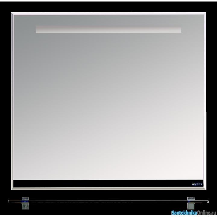 Зеркала Misty Джулия - 90 Зеркало с полочкой 12 мм черное Л-Джу03090-0210