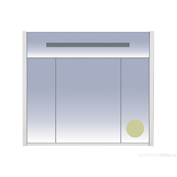 Зеркало-шкаф Misty Джулия 90 бежевый Л-Джу04090-0310