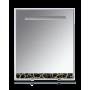 Зеркала Misty Джулия - 65 Зеркало с полочкой 12 КРАКОЛЕТ черный Л-Джу03065-0213