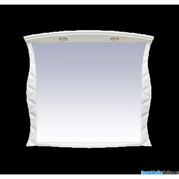 Зеркала Misty CHARME - 100 Зеркало белое со светом Л-Чар02100-011Св