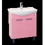 Тумба под раковину Misty Джулия - 75 Тумба прямая розовая Л-Джу01075-1210Пр