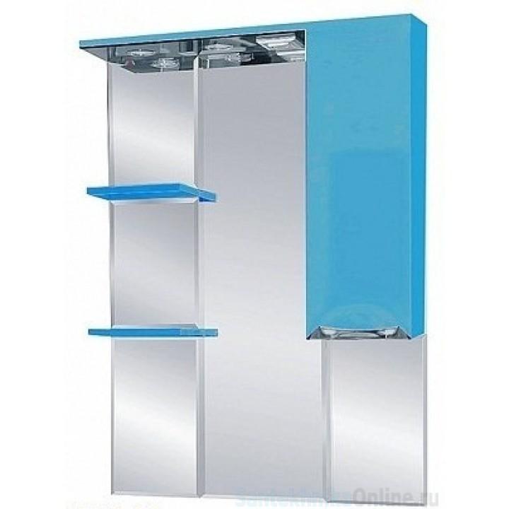 Зеркало-шкаф Misty Жасмин 75 R голубой П-Жас02075-061СвП