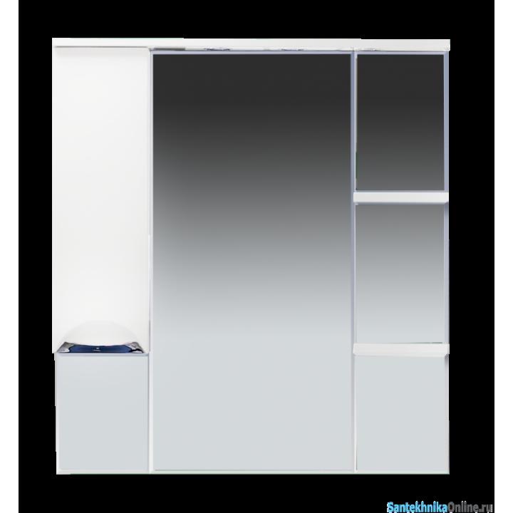 Зеркало-шкаф Misty Кристи 90 L белый П-Кри02090-011СвЛ