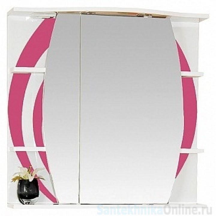Зеркало-шкаф Misty Каролина 80 L розовый П-Крл02080-295СвЛ