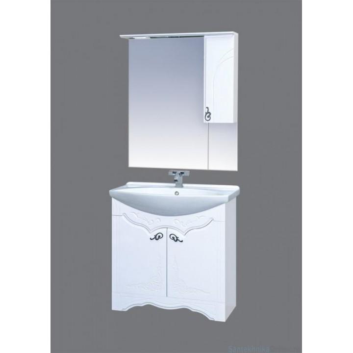 Зеркало-шкаф Misty Неаполь 75 R П-Неа04075-011СвП