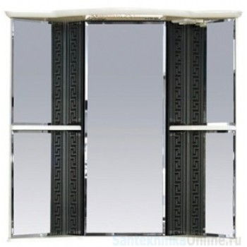 Зеркало-шкаф Misty Олимпия - 60 Зеркало - шкаф угловое прав. белое/венге П-Оли02060-252УгП