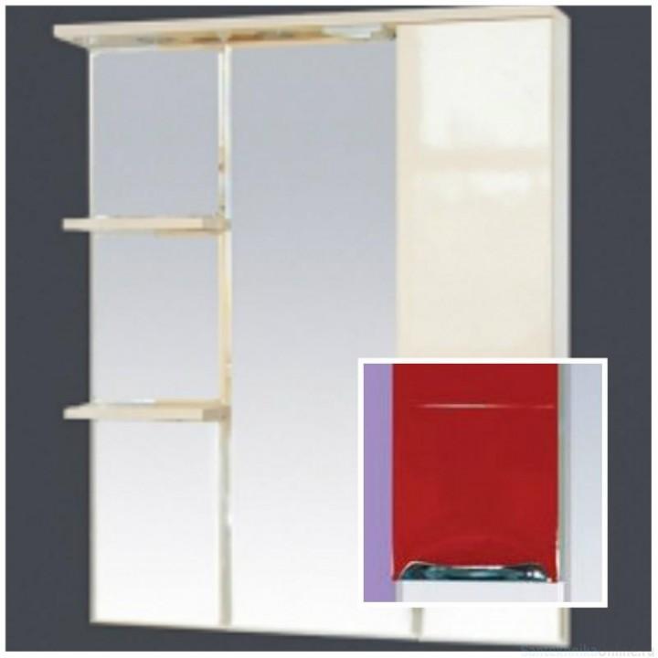 Зеркало-шкаф Misty Петра 90 R красный П-Пет04090-041СвП