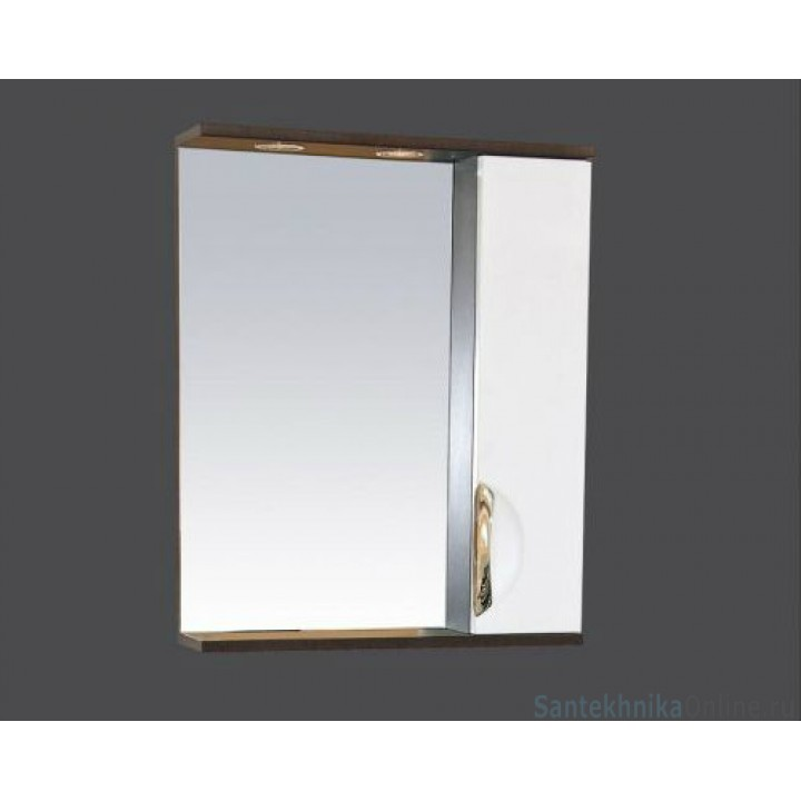 Зеркало-шкаф Misty Франко - 55 зеркало-шкаф Венге/белый (свет) прав. П-Фра04055-252СвП