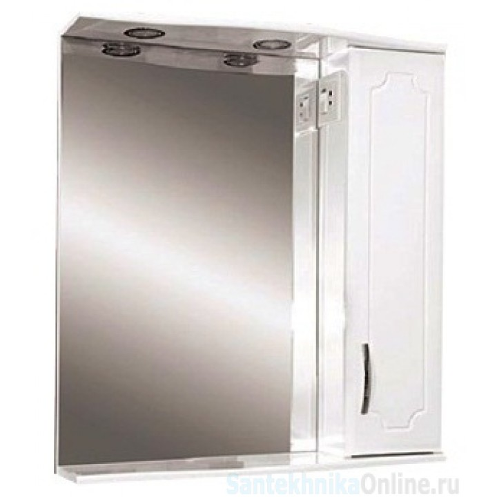 Зеркало-шкаф Misty Стиль 55 R белый Э-Сти02055-01СвП