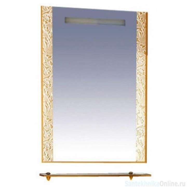 Зеркала Misty Гранд Lux 80 золотое Флораль Л-Грл02080-169Фл