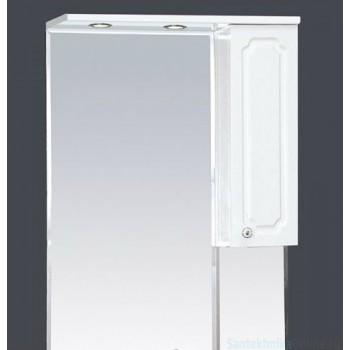 Зеркало-шкаф Misty Александра - 65 зерк-шкаф прав.(свет) белый мет П-Але04065-352СвП
