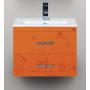 Тумба под раковину Misty Kitty 60 с 2-мя ящиками апельсиновый фреш Л-Кит01060-13П2Я