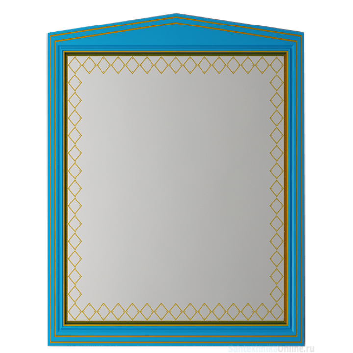 Зеркала Misty Ницца 70 бирюзовое патина Л-Ниц02070-093