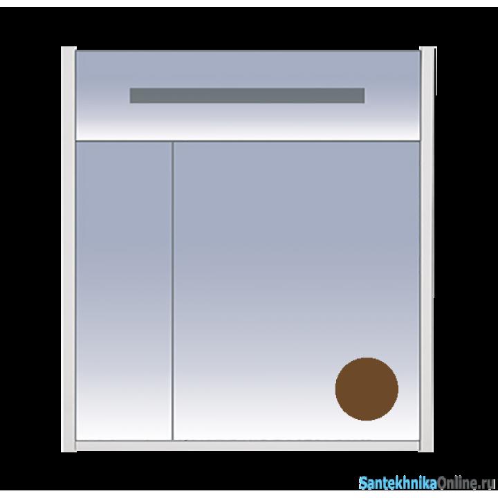 Зеркало-шкаф Misty Джулия 75 коричневый Л-Джу04075-1410