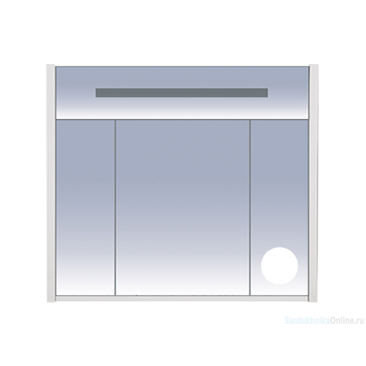 Зеркало-шкаф Misty Джулия - 90 Шкаф белый White зеркальный Л-Джу04090-5210