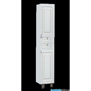 Шкаф-пенал Misty Вояж - 35 Пенал правый белая патина с Б/К П-Воя05035-013БкП