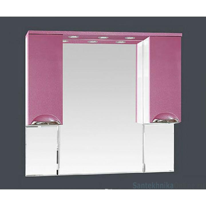 Зеркало-шкаф Misty Жасмин 105 розовый П-Жас02105-122Св