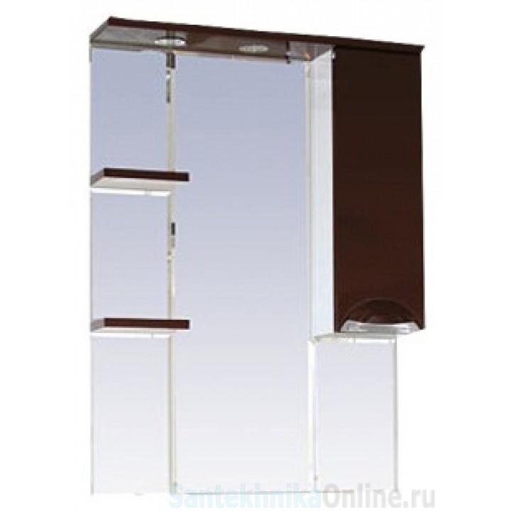 Зеркало-шкаф Misty Жасмин 75 R коричневый П-Жас02075-141СвП