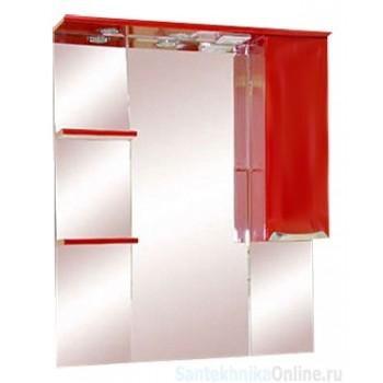 Зеркало-шкаф Misty Жасмин 85 R красный П-Жас02085-041СвП