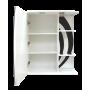 Зеркало-шкаф Misty Каролина 60 L черный П-Крл02060-235СвЛ